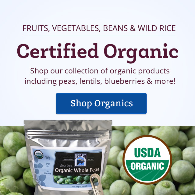Certified Organic Fruits, Vegetables, Beans and Wild Rice Available - Shop Now